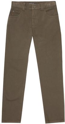 Loro Piana Kids 5 Tasche gabardine slim pants