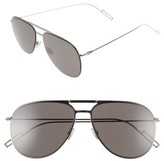 Christian Dior Men's 59Mm Aviator Sunglasses - Ruthenium