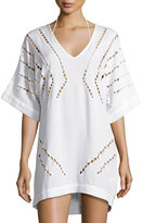 Vix Luma Embroidered Caftan Coverup, Off White