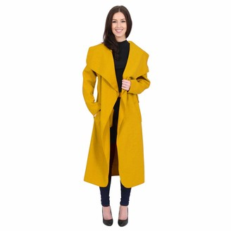 Girly Look New Womens Long Waterfall Italian Duster Coat French Belted Trench Jacket Cardigan Size 8-22 (XXL