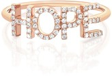 Ef Collection 14K Rose Gold Diamond Hope Ring - Size 6 - 0.14 ctw