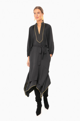 Tory Burch Black Puffed Sleeve Tunic Dress