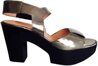 Clergerie Silver Patent leather Sandals