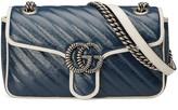 Gucci GG Marmont 2.0 Shoulder Bag in Blue & Mystic White | FWRD