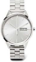 Uniform Wares C40 Day-date Stainless Steel Watch - Silver