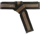 Maje Knotted Chain-Embellished Canvas Belt