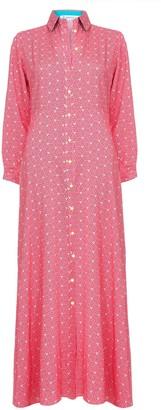 Libelula Maxi Lucinda Dress Red Stripey Triangle Print