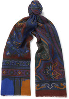 Etro Paisley Wool and Yak-Blend Scarf