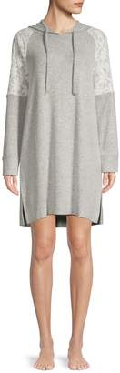 Flora Nikrooz Genna Brushed Knit Heather Hooded Tunic