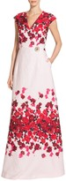 St. John Mira Floral Jacquard Gown