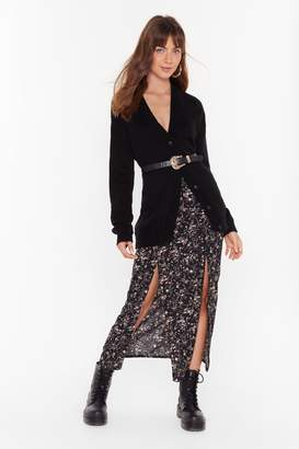 Nasty Gal Womens Flower About Never Floral Midi Skirt - black - 6
