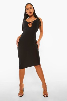 boohoo Slinky Plunge Mini Dress