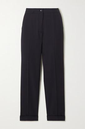 Etro Cropped Crepe Slim-leg Pants - Navy