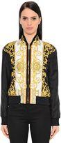 Versace Printed Twill Bomber Jacket