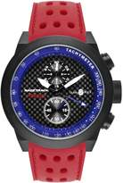 Glam Rock Men's Racetrack 48mm Silicone Band Swiss Quartz Watch Grt29115f-N