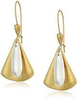 "Robert Lee Morris Metal Mix"" Two-Tone Layered Geometric Drop Earrings"
