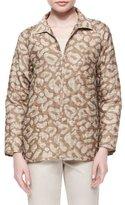 Lafayette 148 New York Zineb Animal-Print Topper Jacket