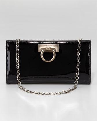 Salvatore Ferragamo Patent Leather Norina Wallet