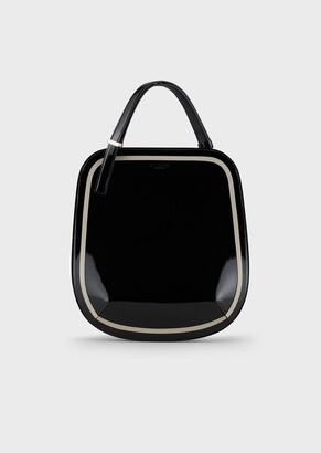 Giorgio Armani Small, Patent Leather La Prima Handbag