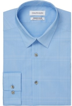 Calvin Klein Men's Infinite Color Slim-Fit Non-Iron Performance Stretch Check Dress Shirt