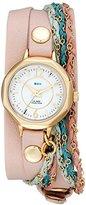 La Mer Women's LMDEL1005 Sydney Analog Display Quartz Champagne Watch