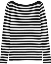 Michael Kors Striped Merino Wool Sweater - White