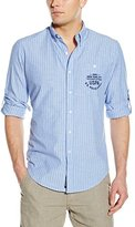 U.S. Polo Assn. Men's Button Down Slim Fit Striped Oxford Shirt