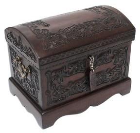 Novica Handmade Colonial Mystique Jewelry Box with Bronze Lock