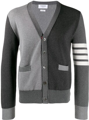 Thom Browne Milano Stitch V-neck Cardigan