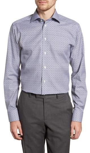 Eton Slim Fit Medallion Print Dress Shirt