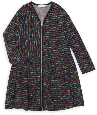 Stella McCartney Little Girl's & Girl's Scribble Logo Zip Dress