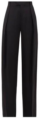 Bottega Veneta High-rise Wide-leg Silk Trousers - Womens - Black