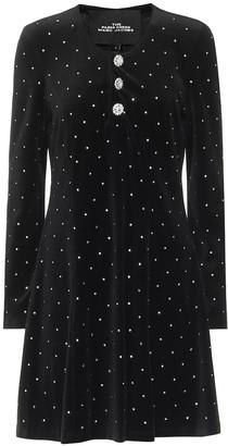 Marc Jacobs Embellished velvet minidress