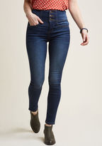 ModCloth Outfitting Ease High Waist Skinny Jeans in S