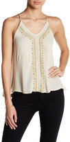 En Creme Embellished Strappy Shirt