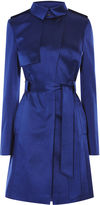 Karen Millen Satin Mac Coat - Blue