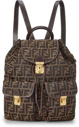 Fendi Brown Zucca Canvas Backpack Large