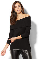 New York & Co. Cashmere Touch Off-The-Shoulder Sweater