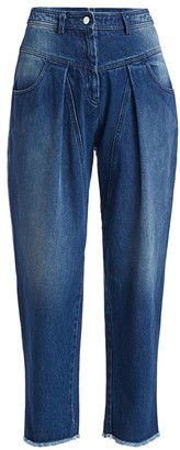 Michael Kors High-Rise Pleated Ankle Crop Jeans