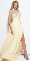Mac Duggal Embellished High Collar Prom Dress
