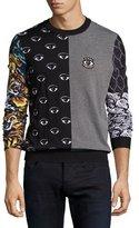 Kenzo Patchwork Icon Intarsia Sweater, Black