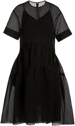 Victoria Victoria Beckham Organza-Layered Midi Dress