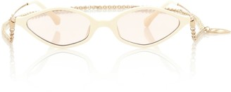Alessandra Rich x Linda Farrow 3 C4 Angular sunglasses