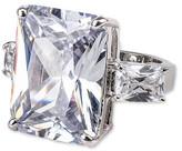 CZ by Kenneth Jay Lane - 1950s Emerald Cut Ring