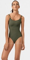 Barcelona Green Army One piece Leather Loop by PilyQ
