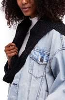 Free People Bottom Line Hooded Rib Knit Wrap