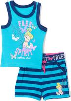 Children's Apparel Network Ocean Tinkerbell Free Spirit Tank & Shorts - Infant