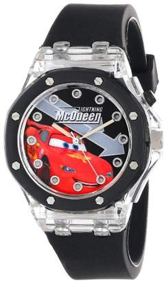 Disney Kids' CZ1072 Lightning McQueen Flashing-Dial Watch with Rubber Band