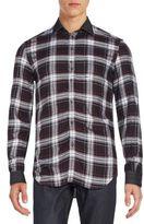 Diesel Kinops Plaid Cotton Sportshirt