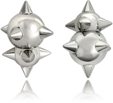DSQUARED2 Pierce Me Palladium Plated Metal Spiked Earrings